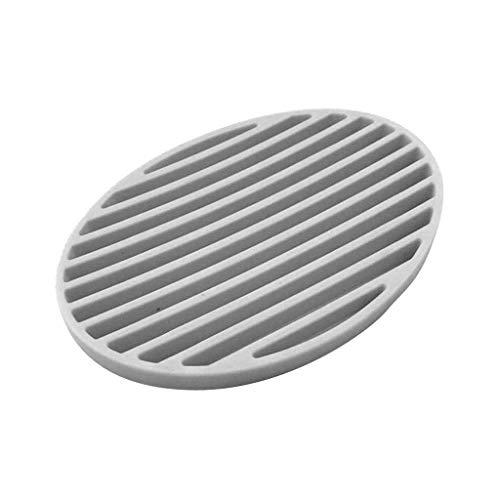 DJY-JY Hogar Caja de jabón, jabón de Marsella Bandeja de Silicona Puede drenar el Agua jabón Hecho a Mano Mat Baño Estéreo Soap Box