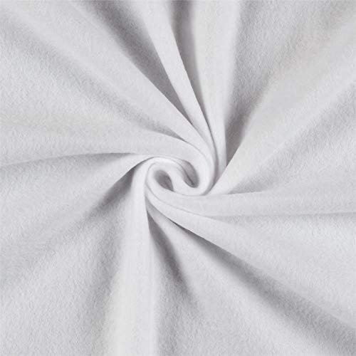 Newcastle Fabrics Polar Fleece Solid White Fabric By The Yard