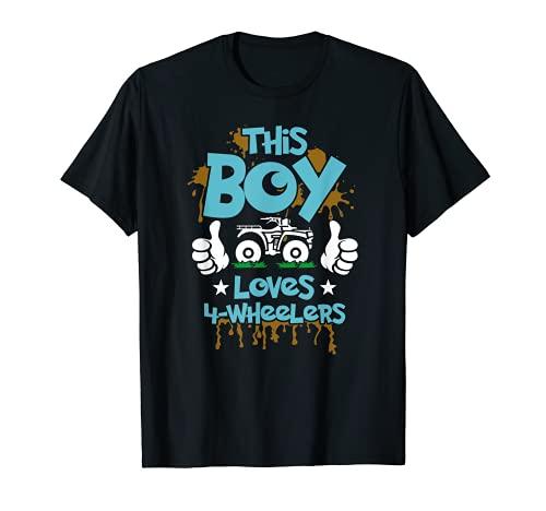 Kids ATV gift 4 wheeler for boys four wheeler gift T-Shirt