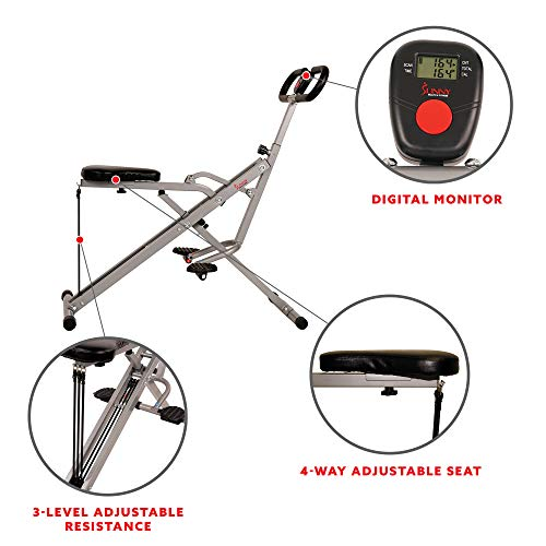 Product Image 3: Sunny Health & Fitness Squat Assist Row-N-Ride Trainer for Glutes Workout with Training Video