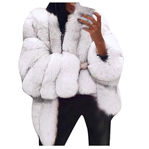 SHANGYI dames vrijetijdsjas Large Size Short Faux voor Coat Warme jas met lange mouwen jas herfst winter losse jas