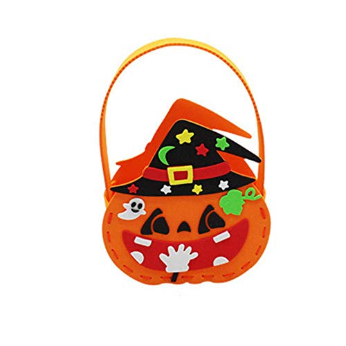 PPTS Halloween bolsa de asas EVA caramelo bolsa casera linda calabaza jardín de infantes actividad fantasma Festival DIY
