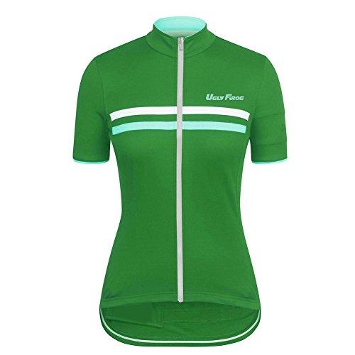 Uglyfrog Neue Frühling Jersey Damen Fahrradbekleidung Gemütlich Trikot Kurzarm Radfahren Jersey Kurze Hülsen Fahrradtrikot