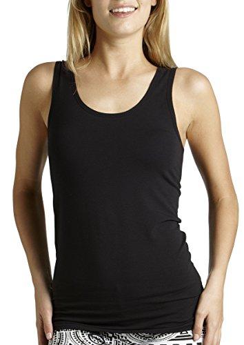 Bonds Women's Underwear Cotton Blend Stretchy Chesty Singlet, Black,