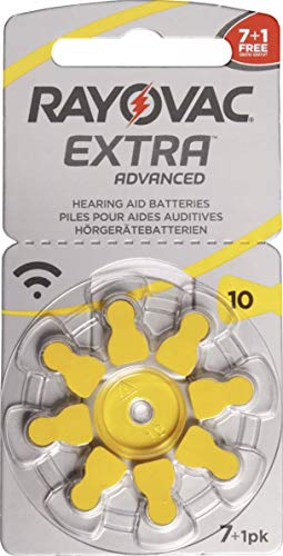 Rayovac Extra Advanced, size 10 Hearing Aid Battery (pack 60 pcs)