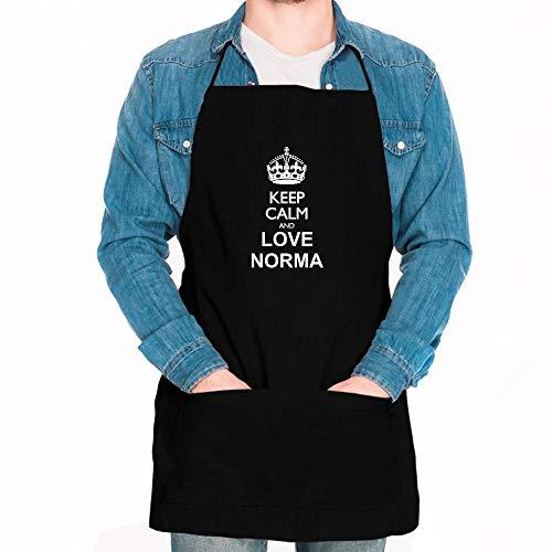 Idakoos Keep Calm and Love Norma Apron