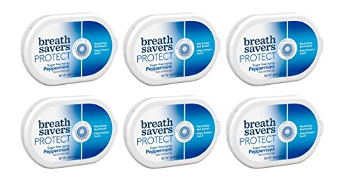 Breath Savers Protect Sugar Free Mints Peppermint 6 Count