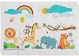 Safari Disposable Placemats - 100-Pack Baby Toddler Kids Table Top Mats,...