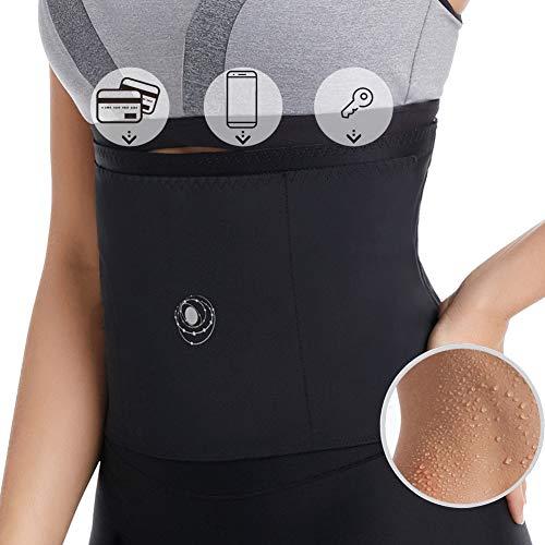 Eono by Amazon - Waist Trainer Bauchweggürtel Schwitzgürtel Slimming Hot Belt Laufgürtel für Training im Sport, Radfahren, Laufen und Outdoor-Aktivitäten