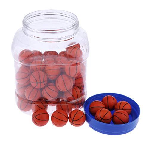 CUTICATE 1 Faß 32mm Gummi Springball Hüpfball Gummiball Hüpfbälle Spielzeug für Jungen und Mädchen - Basketball