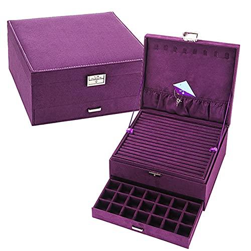 XGYUII PortableJewelry - Caja de almacenamiento para joyas