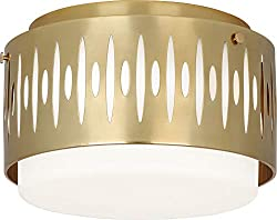 Snappy Atomic Mid Century Lighting Robert Abbey Treble Ceiling Lights In Two Sizes Three Finishes