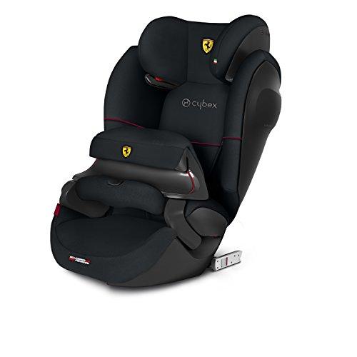Cybex - Silla de coche grupo 1/2/3 Pallas M-Fix SL, silla de coche 2 en 1 para niños, para coches con y sin ISOFIX, 9-36 kg, desde los 9 meses hasta los 12 años aprox.Scudería Ferrari: Victory Black