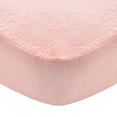 """Flannel Crib Sheet for Boy or Girl, 100% Cotton Flannel Crib Sheet, Heavenly Soft Fitted Crib Sheet for Standard Crib (28"""" X 52"""") and Toddler Mattresses, Pink"""