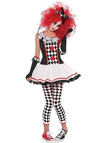 amscan 997504 Teen Cherry Harlekin Kostüm, Alter 14-16 Jahre, 1 Stück, Mehrfarbig, Large Age