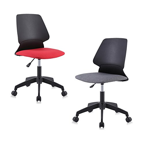 MY SIT Silla de oficina giratoria escritorio taburete altura ajustable sillón diseño silla Nuevo NEO in Negro/Rojo