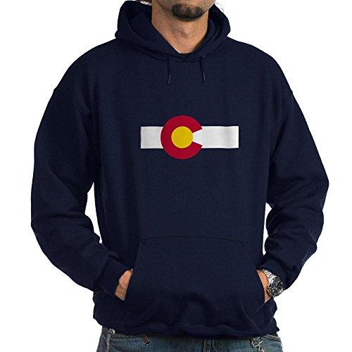 CafePress Sweat à capuche Motif drapeau du Colorado (foncé) - Bleu - Taille Unique