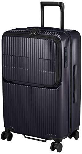 [イノベーター] スーツケース グッドサイズ スリムトップオープン 多機能モデル INV60 保証付 62L 65 cm 4kg ダークネイビー