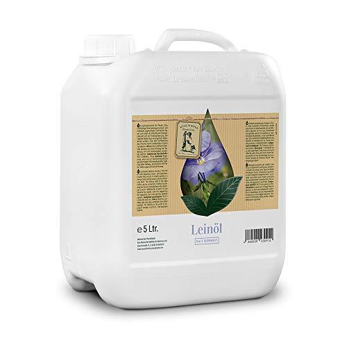 Mühldorfer Leinöl, 5 Liter, kalt gepresst, eiweißarmer Energielieferant, positiv für die Verdauung, für alle Pferde und Ponys