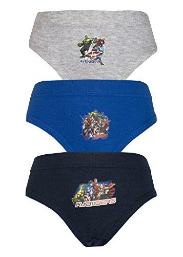 Cartoon Character Products Avengers Assemble 3 PK Garçons Pantalons - Blue Grey 7-8 Years