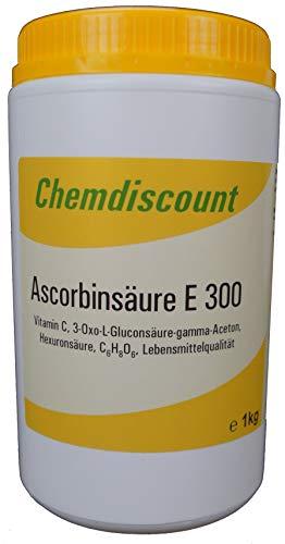 1kg Ascorbinsäure (Vitamin C) in Lebensmittelqualität E300, versandkostenfrei