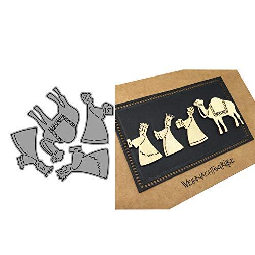 YQCZ Schneidform Neue Ankunft Kamel mit Menschen genäht Metall stanzen sterben DIY Scrapbooking Handwerk prägen Machen Schablone vorlage