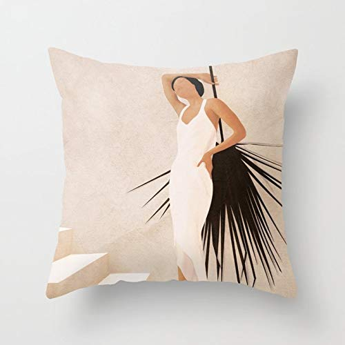 PPMP Throw pillowcase mid century geometric abstract cushion cover for home sofa decoration pillowcase cushion cover A14 45x45cm 2pc