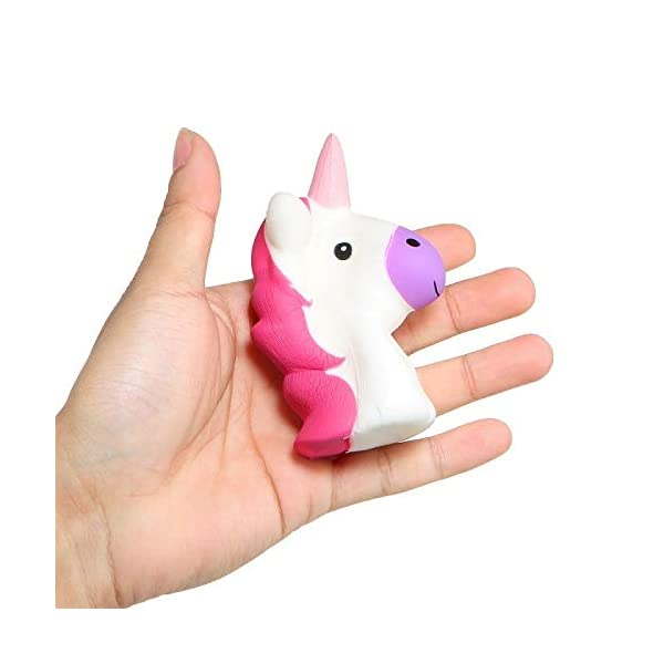 YXJC Fun Toys Squishies, Kawaii Random Color Unicorn Squishy, Creamy Aroma Slow Rising Squeeze Toys for Boys and Girls Gift 6