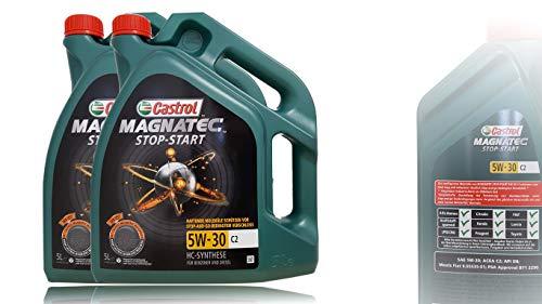 2x 5 L = 10 Liter Castrol Magnatec 5W-30 C2 Motor-Öl Motoren-Öl; Spezifikationen/Freigaben: ACEA C2; PSA Freigabe B71 2290; Meets Fiat 9.55535-S1
