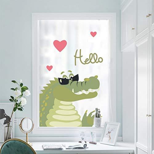 TAOYUE Krokodil slijtage zonnebril liefde hart Hallo muur Sticker Kids kamer meubilair koelkast venster muur zelfklevende poster