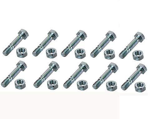 MDAIRC for Ariens 5/16th Deluxe Snow Blower Shear Bolt 1 and 3/4' Length (Include Bolts) 1.31' Space (10)