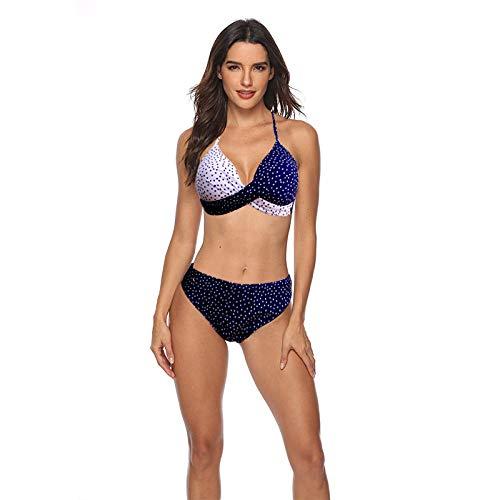 Dames zwemkostuum Sexy V, vrouwelijk hard bag split-badpak, effen kleur strandbikini, vintage zwempak print zwemkostuum
