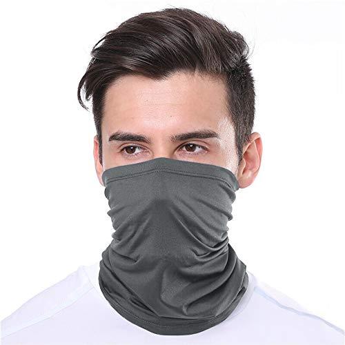 KUNSTIFY | Multifunktionstuch Mundschutz | Bandana Herren Damen Schlauchschal Halstuch Mund-Nasen-Schutz Maske Baumwolle Outdoor | elastisch atmungsaktiv waschbar (Dunkelgrau)