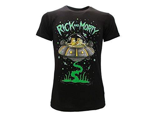 Fashion UK - Rick And Morty Nave Spaziale Raggio Laser Spazio T-Shirt Maglietta Originale Ufficiale (XS Extra Small)