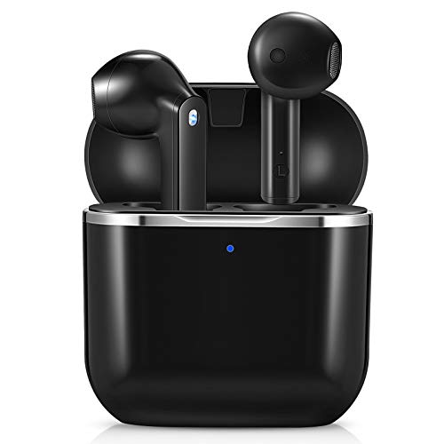 yobola Cuffie Bluetooth, Auricolari Bluetooth 5.1 con Stereo HiFi, Cuffie Wireless con Microfono, Cuffiette Bluetooth con Controllo Touch IPX5 Impermeabili per iPhone Samsung Huawei Xiaomi