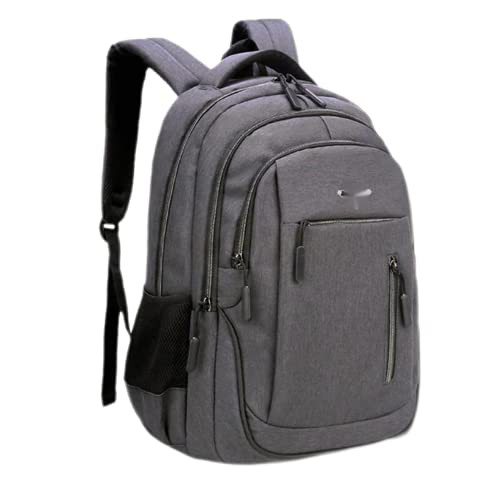 UKKO Zaino Grande Laptop Zaino USB Uomo Donna Donna Schooltale di Computer Schoolbag Business Bag Oxford Impermeabile Rucksack College Daypack-Dark Grey,18 Inches