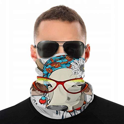 Multifunktionale magische Stirnbänder, Vektor Kuh Turban Blumenbogen Ohrringe Kopfbedeckungen im Freien Bandana Sportschal Tube UV-Gesichtsmaske für Workout Yoga Laufen Reiten Thneed Magic Schal
