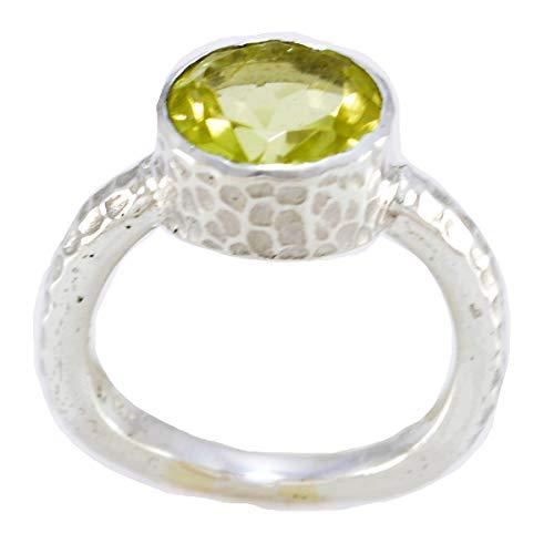 joyas plata buenas piedras preciosas forma redonda una piedra anillos de cuarzo...
