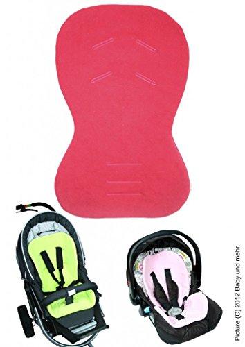 byboom®–Asiento para Baby Asiento/Moby con cara de verano e invierno, universal para portabebés, asiento de coche, por ejemplo para maxi-cosi, Römer, para carrito O. Buggy; Rojo