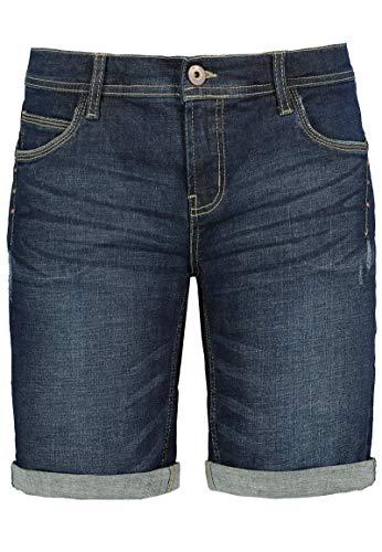 Sublevel Damen Jeans Bermuda-Shorts mit Nietendetails Dark-Blue M