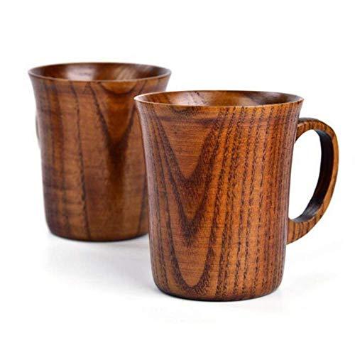 Reuvv Holz Tasse Solid Jujube Becher Holz Kaffee Bier Becher Holz Tasse Handgefertigt Teetasse mit Griff Wasser Tasse Holz Küchen bar Langlebig