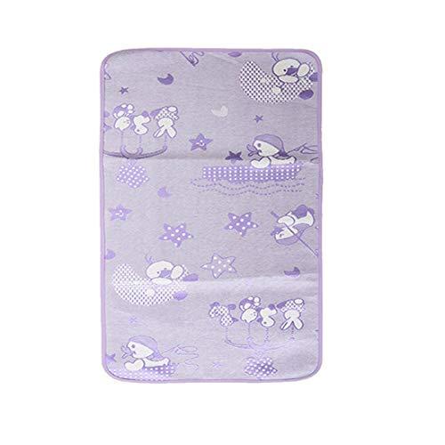 Alfombrilla impermeable para orina de fibra de bambú para bebé, plegable, lavable, 12070 cm, color morado