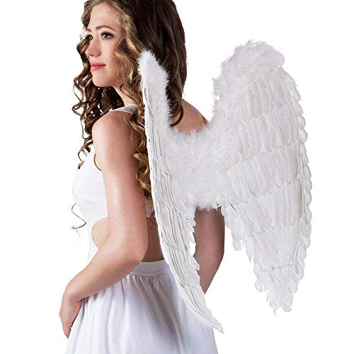 Boland - AC0038 - Maxi ailes d'ange plumes blanches 65 x65 cm