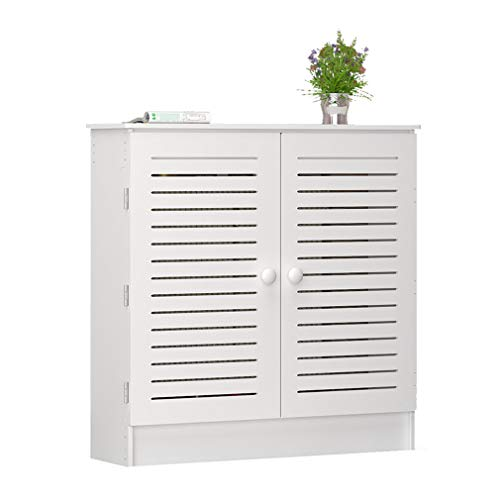 ZXF- Cubierta del Radiador, MDF Cubierta del Radiador Soporte De Exhibición Gabinete De Calefacción con Ventilación En Ambos Lados para Decoración De Muebles De Sala De Estar Blanco