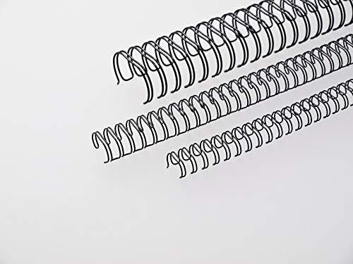 Renz One Pitch Drahtkamm-Bindeelemente in 2:1 Teilung, 23 Schlaufen, Durchmesser 8.0 mm, 5/16 Zoll, schwarz
