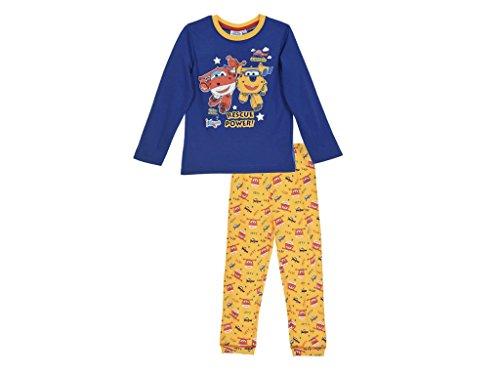 Super Wings Jungen Schlafanzug (98 - ca. 2-3 Jahre, Blau)