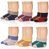 Z-Chen Calcetines Térmicos Invierno para Bebé Niños (Pack de 6 Pares), color mezclado, 1-3 Años