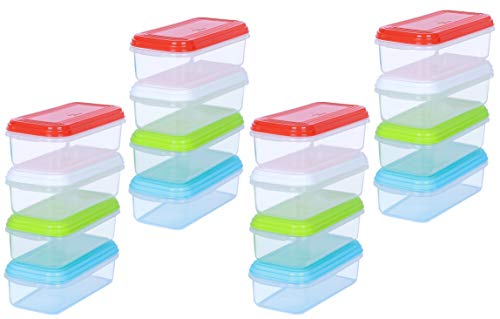 ARSUK Baby Food Containers Weaning Pots Freezer Cubes for Storing Stacking Mashed Food 100% BPA Free (Pack of 16-250ml)