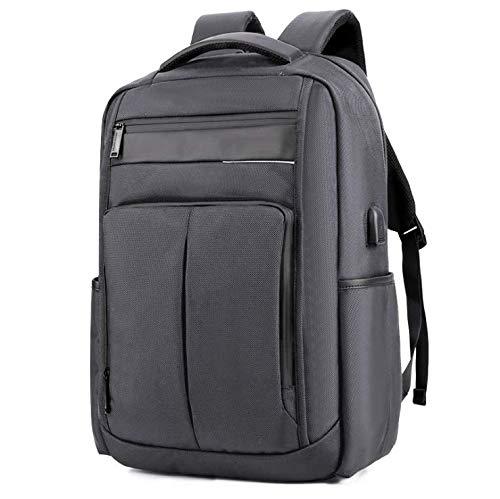 Zakelijke reisrugzak, laptoptas, studentenrugzak met USB-poort, geschikt voor 15 inch laptop en studentencomputerrugzak, grijs