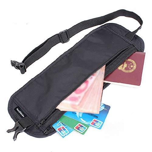 Egurs outdoor reizen onzichtbare heuptas mobiele telefoon paspoort ID diefstalbeveiliging nauwsluitende portemonnee zwart